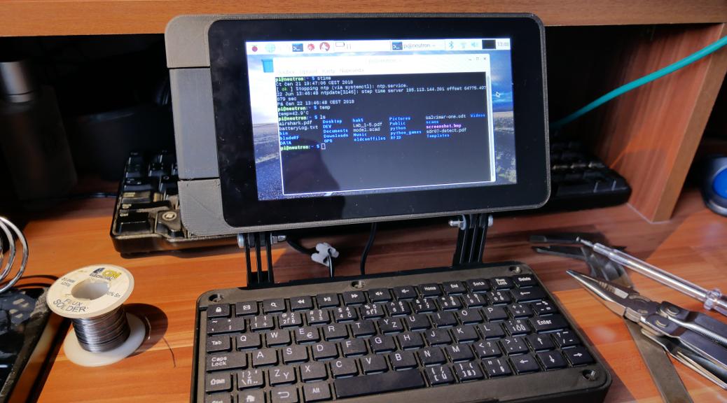 Raspberry PI Notebook Book 3D printed